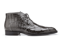 Belvedere Mens Gray Alligator Dress Boots Stefano