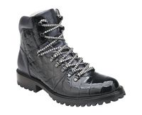 Belvedere Real Black Alligator Hiking Boot Damian