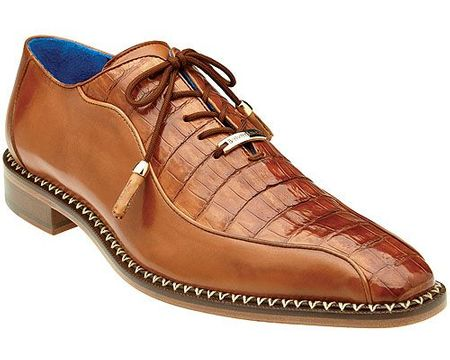 Belvedere Brandy Crocodile Calfskin Shoes Bike Toe Gabriele