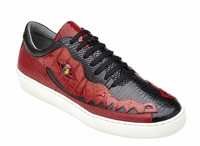 Belvedere Black Red Crocodile Lizard Sneakers Corona