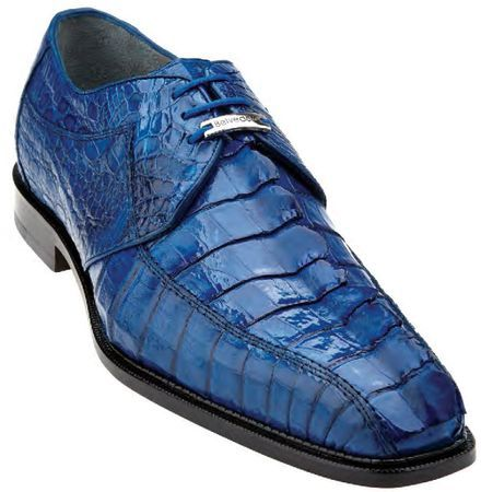 Belvedere Blue Horn Back Crocodile Shoes Columbo Size 13 Final Sale