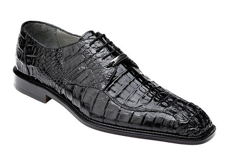 Belvedere Chapo Mens Black Crocodile Lace Up Shoes 1465 - click to enlarge