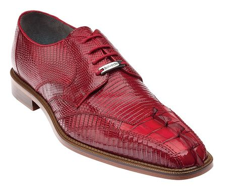 Belvedere Topo Red Hornback Toe Lizard Shoes 1480 - click to enlarge