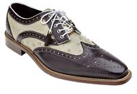 Belvedere Danilo Brown Bone Ostrich Calf Size 11 Final Sale