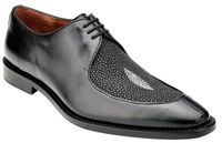 Belvedere Dress Shoes Men's Black Stingray Split Toe Mario