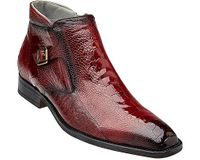 Belvedere Men's Red Ostrich Skin Ankle Boot Gregg