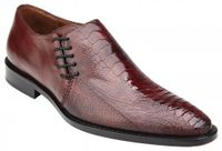 Belvedere Men's Shoes Burgundy Ostrich Side Lace Savanna