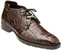 Belvedere Men's Brown Crocodile Ankle Boot Hornback Gaylord