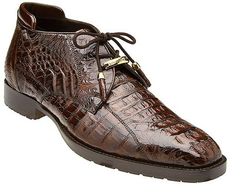 Belvedere Men's Brown Crocodile Ankle Boot Hornback Gaylord - click to enlarge