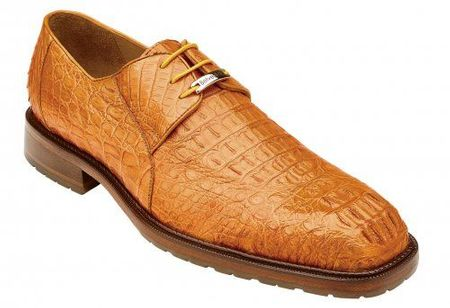 Belvedere Men's Shoes Buttercup Crocodile Casual Lace Up Coppola - click to enlarge