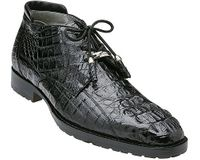Belvedere Men's Black Crocodile Ankle Boot Hornback Gaylord