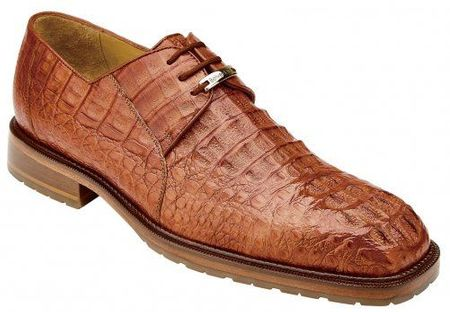 Belvedere Men's Shoes Honey Crocodile Casual Lace Up Coppola - click to enlarge