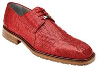 Belvedere Men's Red Crocodile Shoes Casual Lace Up Coppola
