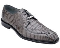 Belvedere Mens Gray Real Crocodile Skin Shoes Chapo 1465