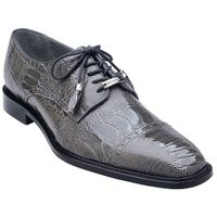 Belvedere Mens Gray Ostrich Leg Skin Shoes Batta 14006