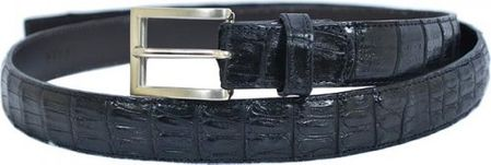 Belvedere Mens Black Genuine Crocodile Skin Belt 1999 - click to enlarge