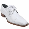 Belvedere Mens White Genuine Lizard Skin Shoes Karmelo 1497