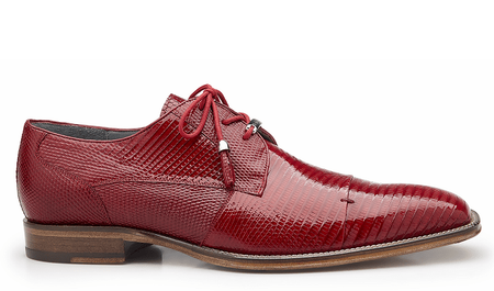 Belvedere Mens Red Genuine Lizard Skin Shoes Karmelo 1497 - click to enlarge