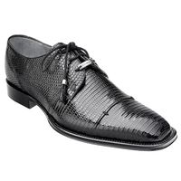 Belvedere Karmelo Black Full Lizard Skin Exotic Shoes