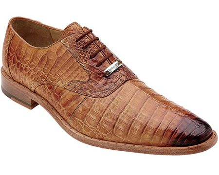 ec8eb3b00d08 Belvedere Mens Honey Crocodile Shoes Edo Size 8.5 Final Sale