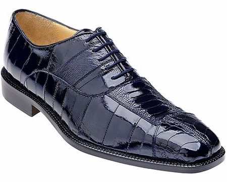 Belvedere Mens Blue Eel Skin Ostrich Shoes Mare 2P7 - click to enlarge