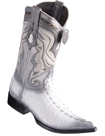 Los Altos White Crocodile Cowboy Boots Pointy Toe 9530128 Size 13 Final Sale
