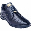 Belvedere Mens Blue Real Hornback Crocodile Sneaker Vasco 336122