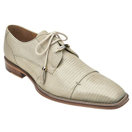 Belvedere Beige Lizard Skin Cap Toe Shoes Karmelo - click to enlarge
