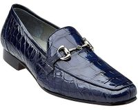 Belvedere Men's Blue Alligator Gucci Style Loafer Gerald
