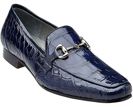 Belvedere Men's Blue Alligator Italian Style Loafer Gerald