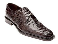 Belvedere Mens Brown Crocodile Skin Shoes Chapo Size 11 Final Sale