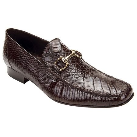 Belvedere Mens Brown Crocodile Top Stitched Loafers Italo 1010 - click to enlarge