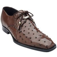 Belvedere Mens Real Brown Ostrich Shoes Isola 14001