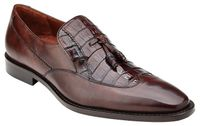 Belvedere Shoes Men Brown Alligator Wingtip Tassel Loafer Bosco