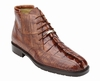 Belvedere Mens Brandy Hornback Crocodile Ostrich Boots Barone