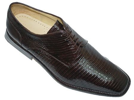 Belvedere Mens Brown Genuine Lizard Skin Shoes Olivo H14 Shoes - click to enlarge