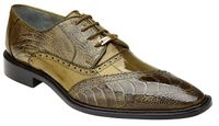 Belvedere Mens Shoes Olive Ostrich Eel Lace Up Nino