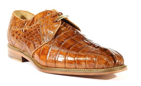 Belvedere Mens Camel Genuine Hornback Crocodile Top Shoes Columbo - click to enlarge