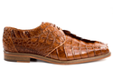 Belvedere Mens Camel Genuine Hornback Crocodile Top Shoes Columbo
