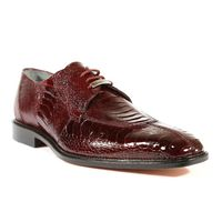 Belvedere Mens Burgundy Ostrich Shoes Sienna Size 9 Final Sale
