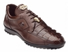 Belvedere Mens Brown Genuine Hornback Crocodile Sneaker Vasco 336122