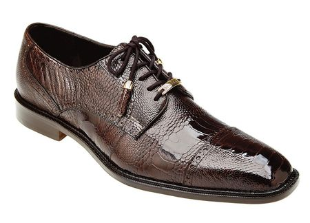 Belvedere Mens Brown Ostrich Leg Skin Shoes Batta - click to enlarge