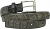 Belvedere Mens Gray Genuine Crocodile Skin Belt 1999