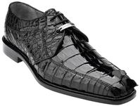 Belvedere Mens Black Genuine Hornback Crocodile Top Shoes Columbo