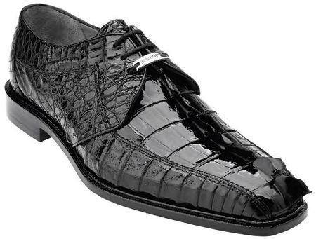 Belvedere Mens Black Genuine Hornback Crocodile Top Shoes Columbo - click to enlarge