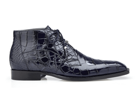 Belvedere Mens Navy Blue Alligator Dress Boots Stefano