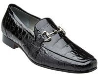 Belvedere Men's Black Alligator Gucci Style Loafer Gerald