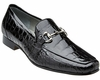 Belvedere Men's Black Alligator Italian Style Loafer Gerald