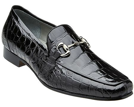Belvedere Men's Black Alligator Gucci Style Loafer Gerald - click to enlarge