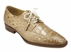Belvedere Alligator Shoes Mens Taupe Tan Split Toe Oxford Lorenzo B01